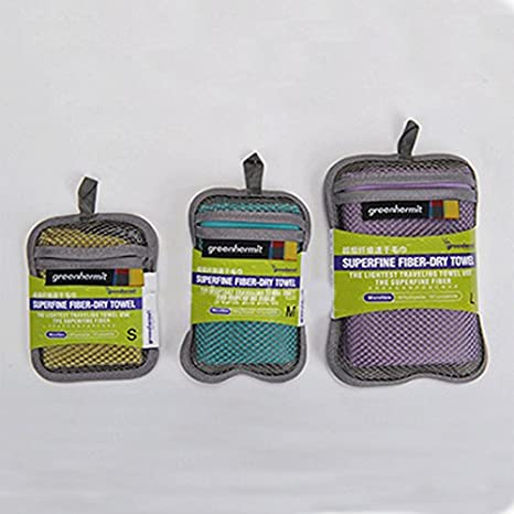 Generic Buff, 35 x 75 cm: Tres colores secado rápido toalla de microfibra toalla