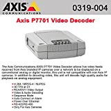 0319-004 AXIS P7701 1 CHANNEL DECODER H.264 AXIS Communications Video Encoder Standalone by AXIS COMMUNICATION INC.