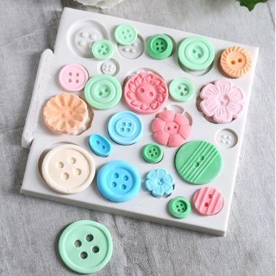 Toy Bear - Teddy Sitting Design Button Shape Silicone Mould for Cake Decorating Cupcakes Sugarcraft Candies Pack of 2 by Vivin (Image #2)