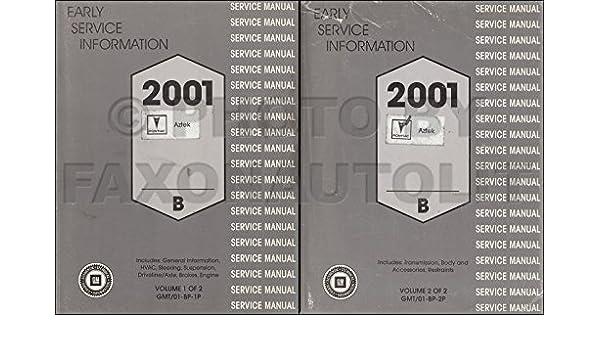2001 Pontiac Aztek Preliminary Service Repair Manual Set