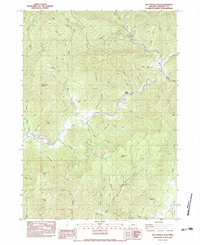 - Oregon Maps | 1983 Mc Conville Peak, OR USGS Historical Topographic Map | Cartography Wall Art | 18in x 24in