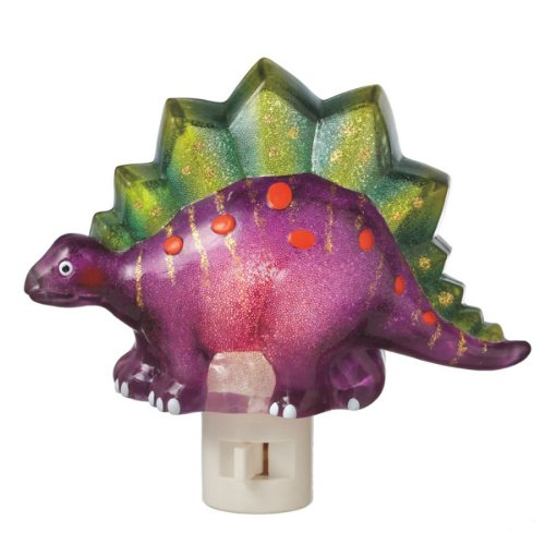 Midwest CBK Beaded Purple Dinosaur Night Light