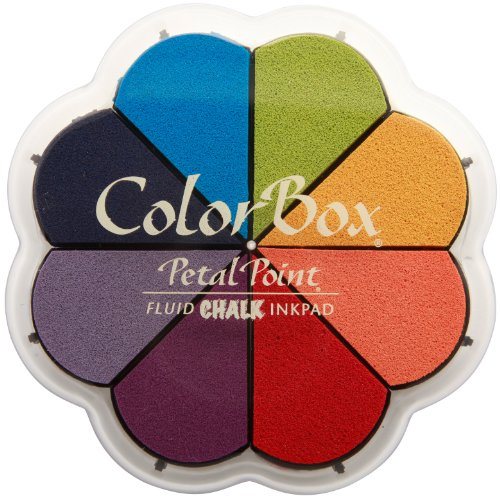 (CLEARSNAP Colorbox Fluid Chalk Petal Point Option Inkpad, Primary Pastels, 8 Colors Per Pad)