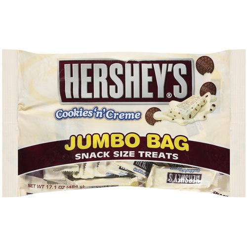 HERSHEYS Cookies n Crème Snack Size Chocolates Jumbo Bag - 17.1oz