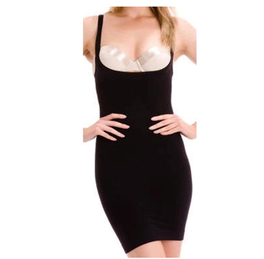 Bodyfit Womens Underbust Control Dress Ladies Mini Length Shapewear Vest Dress