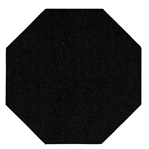 Black Octagon Rug - Bright House Solid Color Area Rug, Octagon, 6' W x 6' L, Black