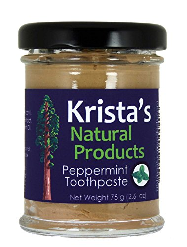 Organic Peppermint Toothpaste made by Krista's Natural Products - 75 g (2.6 oz) ()