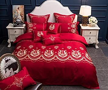 King Bedding Queen Size Duvet Cover Bed Sheet Bedclothes Luxury Sets All Size