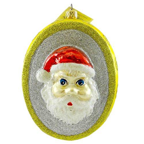 Fraga Christmas Ornament - Larry Fraga CHRISTMAS LOCKET Glass Ornament Christmas Santa Candle 6028 WHITE