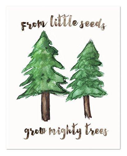 Forest Nursery Decor, Woodland Baby Room Decor, Forest Art, Pine Trees