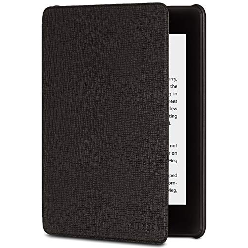 All-New Kindle Paperwhite Leather Cover (10th Generation-2018), Black (Cover Kindle Leather Amazon)