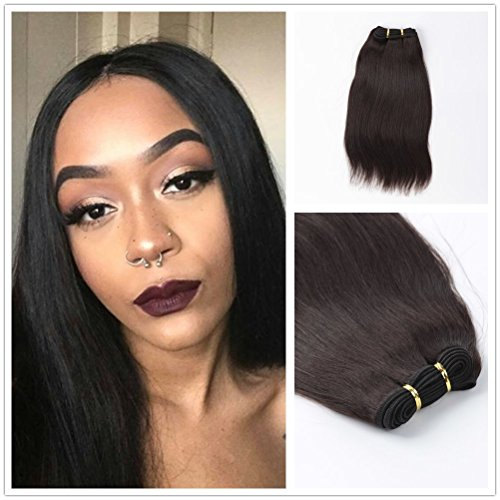 - Wigsroyal 2 Bundles Indian Remy Yaki Perm Weave Hair 12 Inch,4Oz/Bundle,2# Color(12 12)