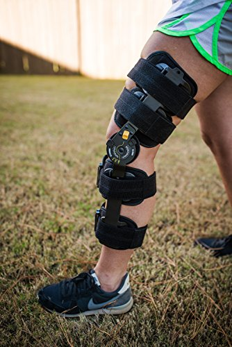 The Orthopedic Guys Hinged Post Op Patella Brace - Adjustable Support & Protection for ACL, MCL, Patella Tendon, Meniscus Injuries + Heal Sprains Strains Weakness and Instability + Align Joints. ()