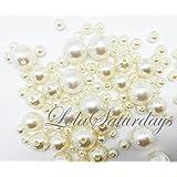 Lolasaturdays Pearls 1-Lbs loose beads vase filler (Assorted, Ivory)