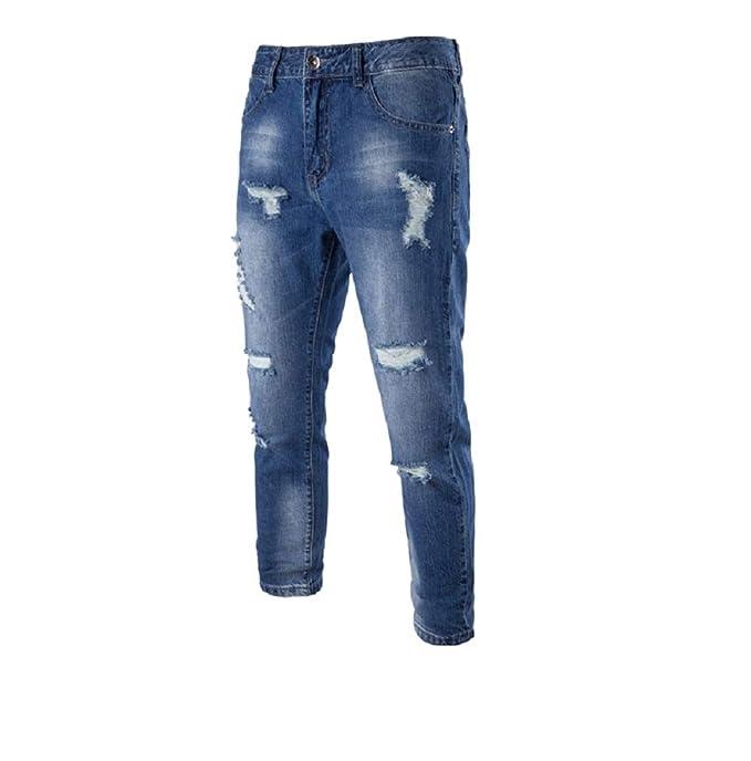 Jeans para Moda para Puntos Regular Slim Corte de Jean Recto de Hombre de Jeans ociosos para Corte de de Oudan Hombre Jeans Pantalones Pantalones Hombres 8BUUq