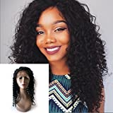 Enoya Hair 360 Lace Frontal Wigs 180% Denisty Human Hair Wigs for Black Women Curly Brazilian Virgin Hair Pre Plucked 360 Lace Wigs with Baby Hair (20'')