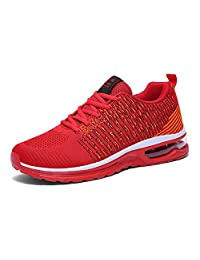 LIN&LV Women's Air Cushion Training Running Shoes Breathable Athletic Walking Jogging Sneakers