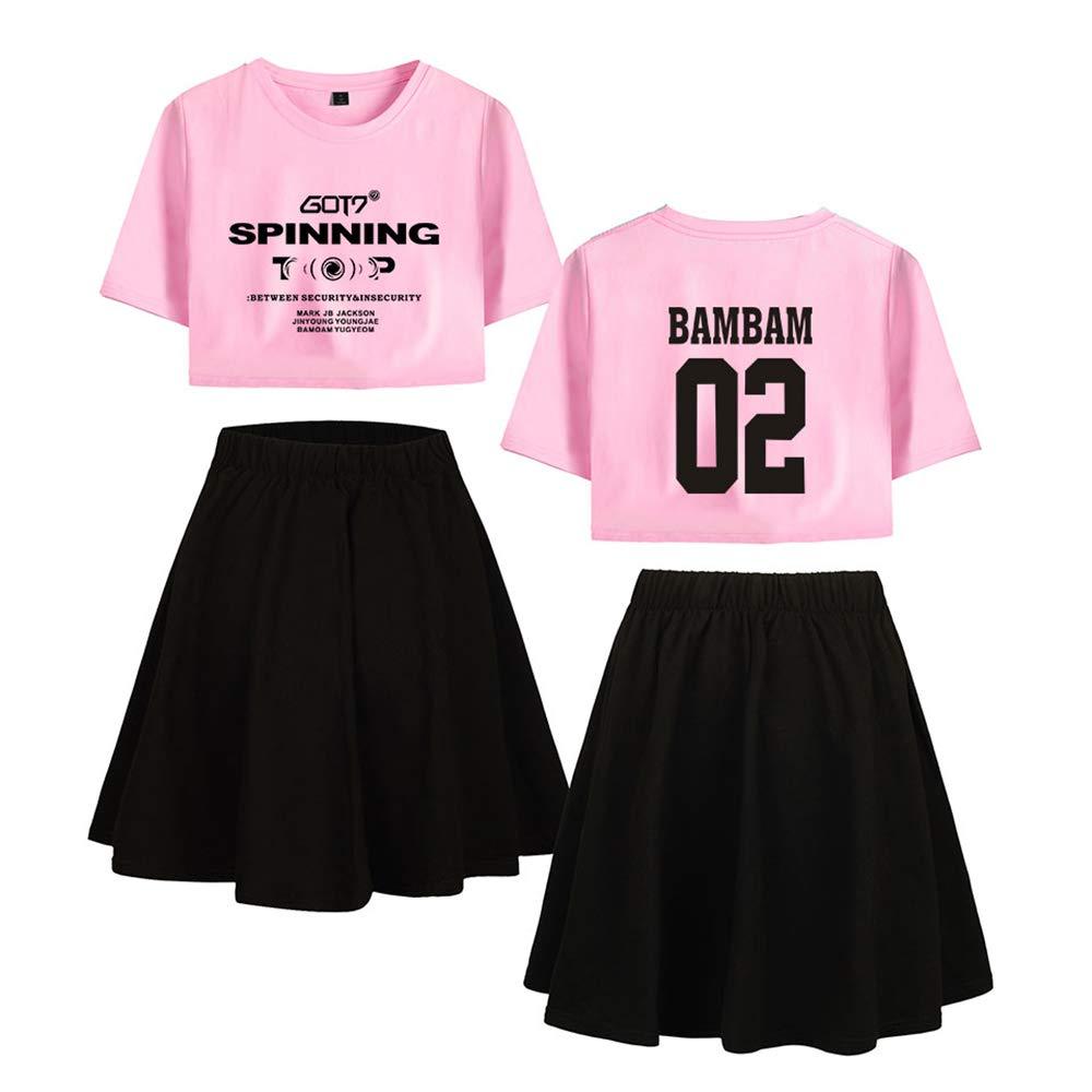 Enjoyyourlife GOT7 Ropa Camiseta Set GOT7 Spinning Expuestos Falda ...