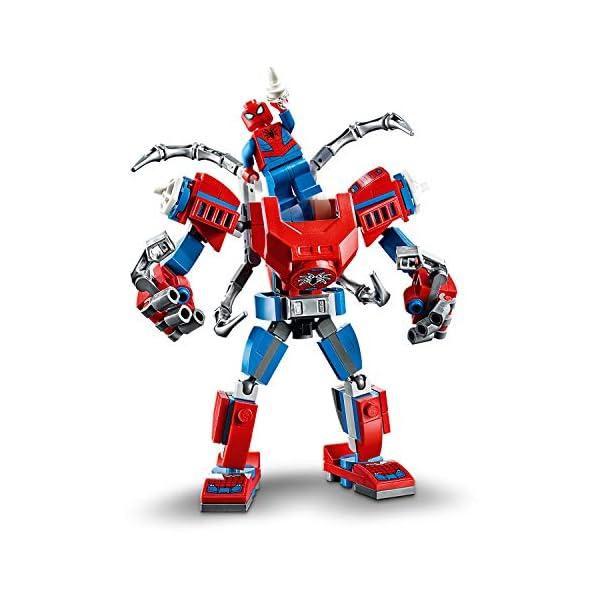 LEGO Super Heroes Il Mech di Spider-Man Set di Costruzioni per Bambini, con la Minifigure di SpiderMan e Ragnatela… 2 spesavip