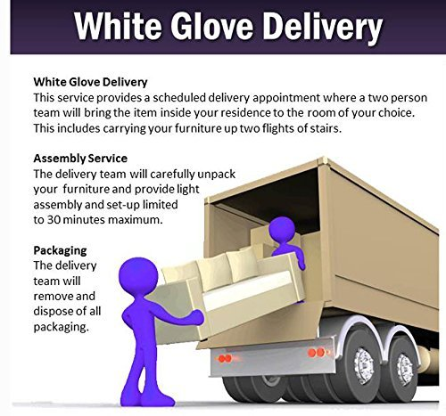 White Glove Delivery for Recliners Ordered from Jones Glass and Decorating Center. This is A Charge Per Recliner. (Approx Delivery Time for White Glove Delivery is 2 to 4 Weeks).> (Glove Furniture White Delivery)