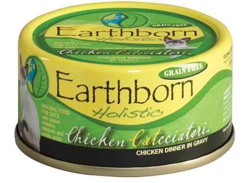 Earthborn Holistic Chicken Catcciatori Chicken Dinner in Gravy Wet Cat Food, 5-1/2-Ounce Can, 24-Pack, My Pet Supplies
