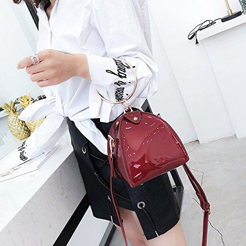 CJshop nueva bolsa pequeña niña nueva versión coreana de la versión gratuita del bolso bolso estilo fashion,color champagne Gules