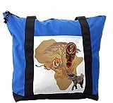 Lunarable Safari Shoulder Bag, Local Animal Species Africa, Durable with Zipper