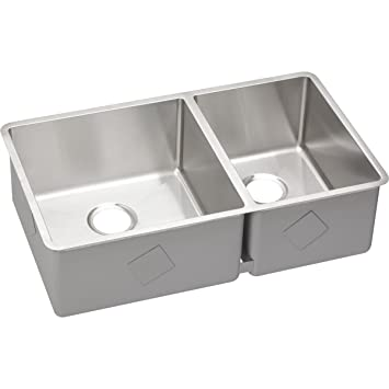 Elkay Crosstown ECTRU32179R 60/40 Double Bowl Undermount Stainless Steel  Kitchen Sink