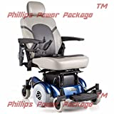 Golden Technologies - Compass HD - Heavy Duty Power Chair - Blue - PHILLIPS POWER PACKAGE TM - TO $500 VALUE