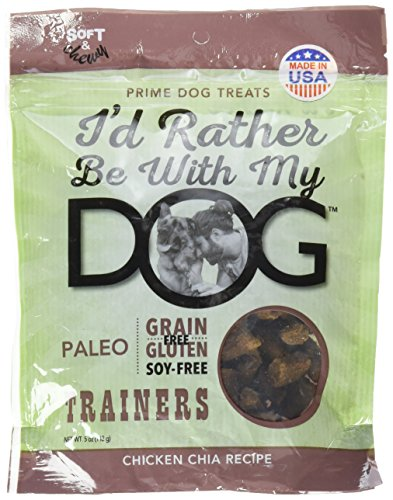 I'd Rather Be with My Dog,Paleo Chicken Chia Trainers, 5 oz