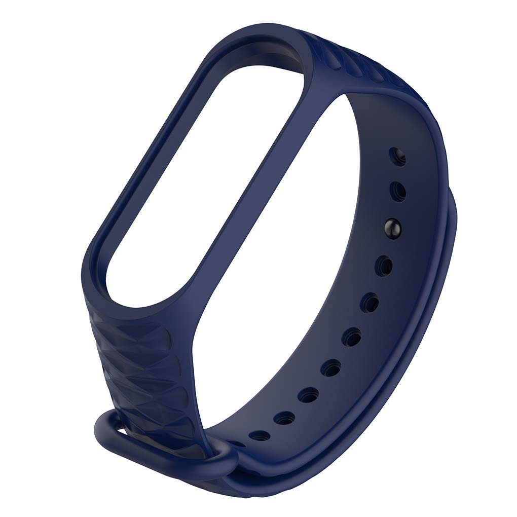 wufeng Replacement for Xiaomi Mi Band 4 3 Watch Band Wristband Anti-lost TPU Silicone Wrist Strap Bracelet