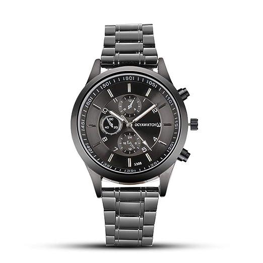 d518b3fa115ff Amazon.com: Dalina Men Wrist Watches Fashion Stainless Steel Round ...