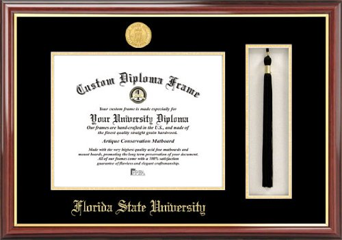 Campus Images NCAA Florida State Seminoles Tassel Box and Diploma Frame