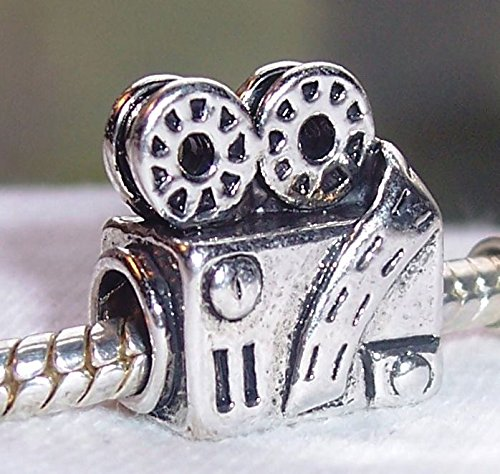 Jewelry Making Supplies Retro Movie Projector Film Camera Hollywood Theater Charm for European Bracelet Make Personalized Necklaces Bracelets and Other Jewelry (Hollywood Projector)