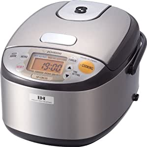 ZOJI NP-GBC05-XT Induction Heating System Rice Cooker and Warmer, Stainless Dark Brown