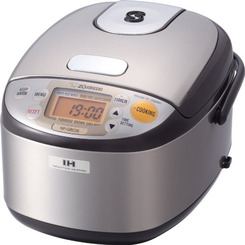 Zojirushi NP-GBC05-XT Induction Heating System Rice Cooker and Warmer, Stainless Dark Brown