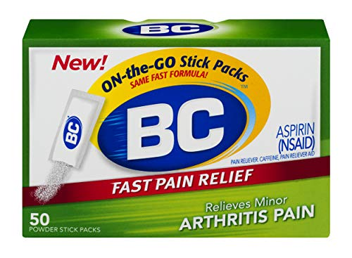 BC Powder | Fast Pain Relief | Arthritis | Aspirin (NSAID) & Caffeine | 50 Count