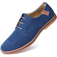 Marino Suede Oxford Dress Shoes for Men - Business Casual Shoes - Classic Tuxedo Men's Shoes