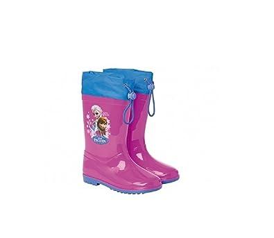 in uso durevole famoso marchio di stilisti nuovo prodotto Disney Stivaletti Antipioggia Frozen Anna Elsa Fuxia GALOSCE ...