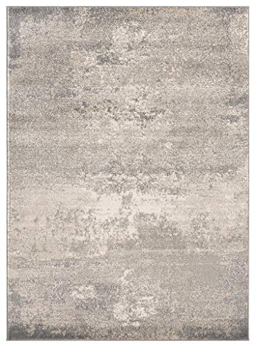 Luxe Weavers Howell Collection Abstract Gray 5x7 Area Rug - Actual Dimension: 5 feet 2 inches width by 7 feet 2 inches length Easy to maintain: Care instuction, vacuum regularly and spot clean stains using mild soap and water. Super soft fibers, comfortable soft to feel. - living-room-soft-furnishings, living-room, area-rugs - 51qYyXA5dUL -