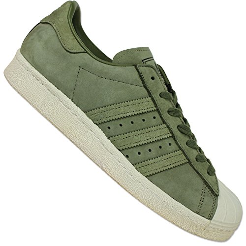 adidas Damen Superstar 80s W Gymnastikschuhe, Schwarz, media BY2506 - Khaki
