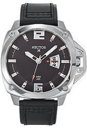 Hector Men's 665283 Black Dial Black Big Date Watch