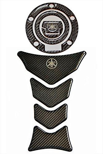 Carbon Fiber Motorcycle Tank Protector Pad +gas cap cover for Yamaha FJR YZF R1 R6 R-1 FZ1 FZ8 FZ6
