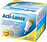 Acti-Lance 7157 17 g x 2.0 mm depth, Button Activated Safety Lancet, Special, Yellow (Pack of 100)