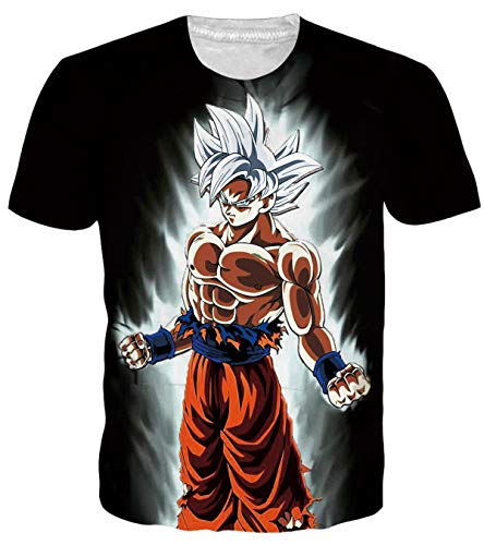 OPCOLV Men's 3D Prints T Shirts Dragon Ball Z Goku Costume Cosplay Shirt Short Sleeve Cartoon Tops Comfy Apparel Home Tees T Shirt -