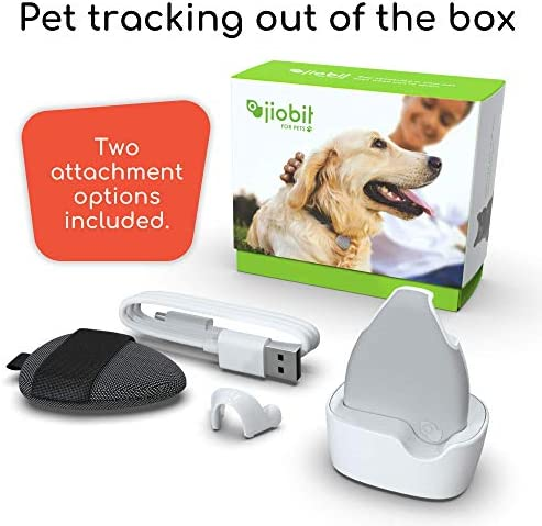 Jiobit Pet/Child Tracker - Live Location Monitoring for Dogs and Cats of Any Size | Small, Lightweight, Durable, Water Resistant, Shockproof, Smart Notifications | Utilizes Cellular, BT, WiFi and GPS