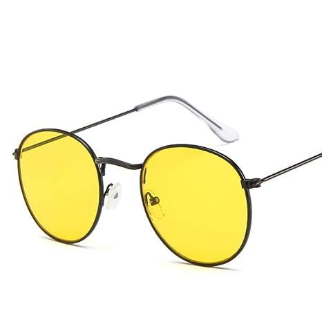 Yangjing-hl Gafas de Sol Redondas Mujer Gafas de Sol de ...