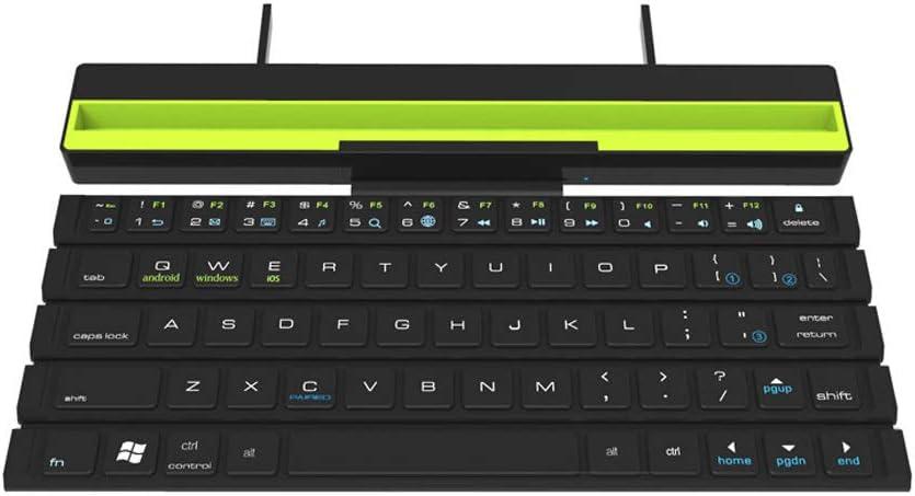 GEZICHTA Teclado Bluetooth 4.1 Plegable, Teclado portátil Plegable ...