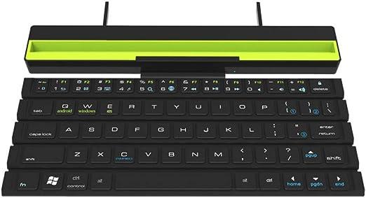 GEZICHTA Teclado Bluetooth 4.1 Plegable, Teclado portátil ...