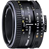 Nikon AF FX NIKKOR 50mm f/1.8D Lens for Nikon...